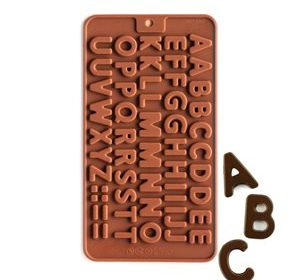 How to make alphabet letters using an alphabet silicone mold